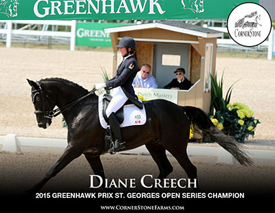 DIANE CREECH & HALLMARK - PRIX ST. GEORGES CORNERSTONE DRESSAGE